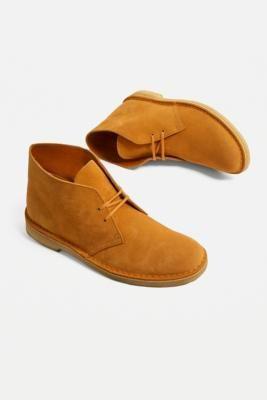 Clarks Turmeric Suede Desert Boots
