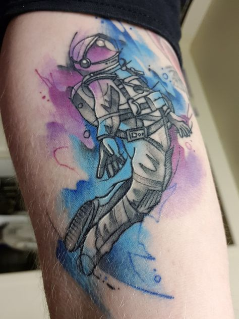 Astronaut - by Ali at Serpents Ink, Gold Coast, QLD, Aust.
