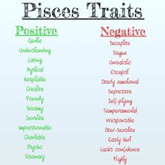 Positive And Negative Traits Of A Pisces Astrology Zodiac Zodiacsigns Sunsign Moonsign Virgo Negative Traits Scorpio Traits Aquarius Negative Traits