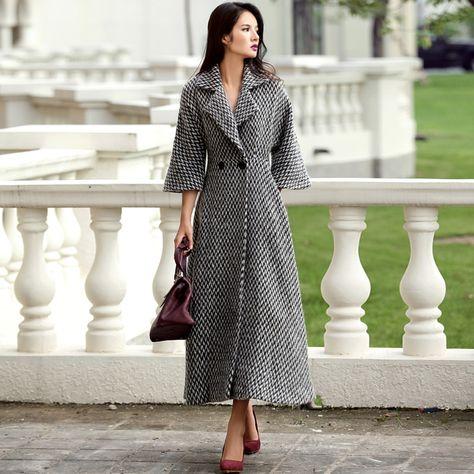 Cheap wollen coat, Buy Quality brand coat directly from China coat brand Suppliers: VERRAGEE Brand 2017 New Vintage Women Wool Long Woolen Coat Autumn Women's Winter Jackets Double Button Elegant Female Warm Coat