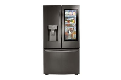 Lg Craft Icesmart Wi Fi Enabled 29 7 Cu Ft French Door Refrigerator With Dual Ice Maker And Door Within Door Fingerprint Resistant Black Stainless Steel Energ In 2020 French Door Refrigerator Counter Depth Stainless