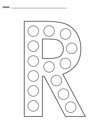 FREE Letter R Do-A-Dot Printables - Uppercase & Lowercase ...