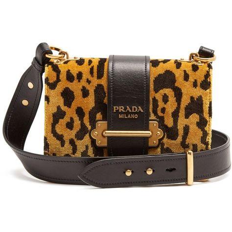 53d2dec360f7 Cahier velvet and leather cross-body bag Prada MATCHESFASHION.COM ...