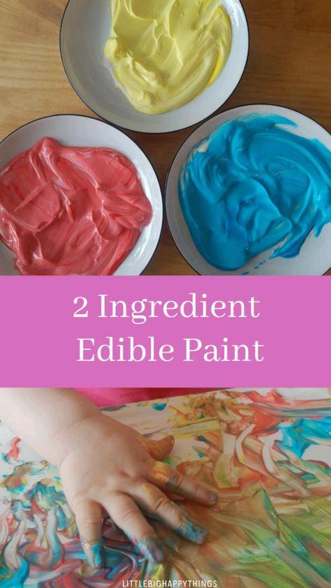 2 Ingredient Taste-Safe Finger Paint