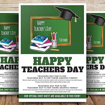سعيد يوم المعلم فلاير ملصق Happy Teachers Day Teachers Day Teacher