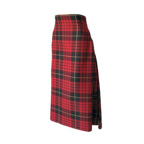 3c61b56969 Alexander McQueen tartan skirt. High boned waist item fully silk lined,  zips off center back.