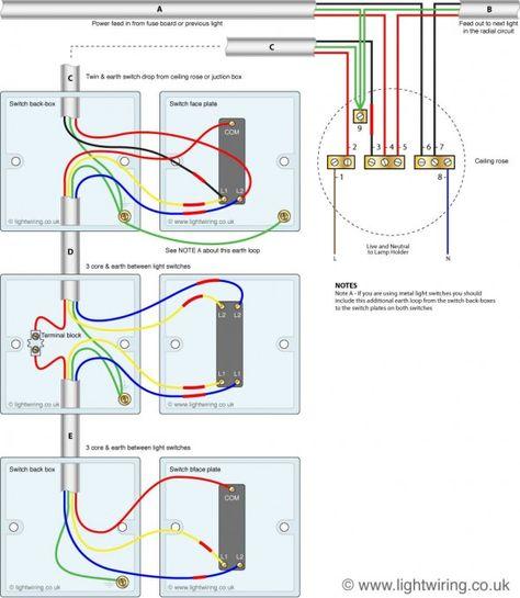 Astounding Three Way Light Switching Old Cable Colours Light Wiring Wiring Database Lukepterrageneticorg