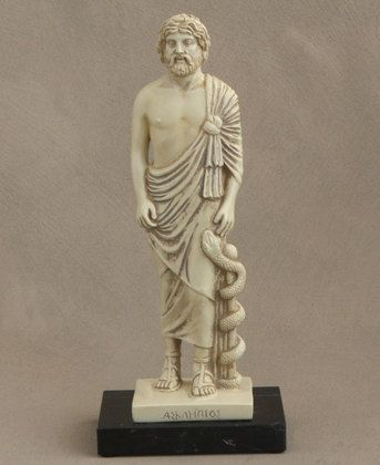 Asclepios Greek God Of Medicine Statue 10 Inches Greek Statues Ancient Greek Gods Statue