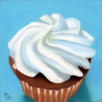 Creamy Cupcake, painting by artist Ria Hills