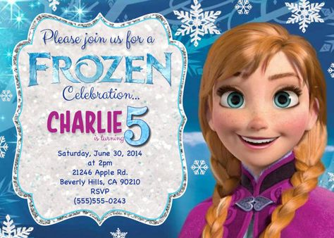 Disneys Frozen Birthday Invitation Printable By 4mustardseeds