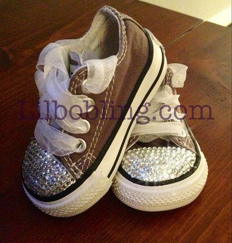 c3e0dba10fd0 Bling Converse for babies