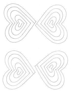 Free Spiral Heart Printable Template Heart Pop Up Card Pop Up Card Templates Valentine Card Template