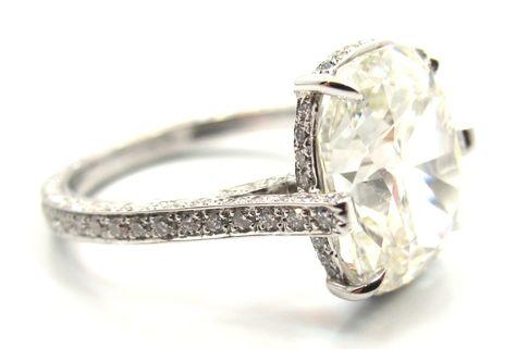 1stdibs   Exquisite GIA 4.11 Ct Cushion Cut Diamond Engagement Ring LOVE love love love