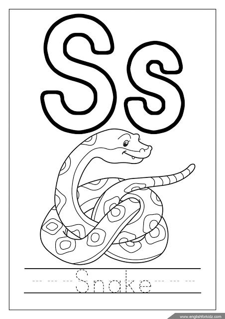 My A To Z Coloring Book Letter S Coloring Page Download Free My Alphabet Coloring Pages Letter S Worksheets Book Letters