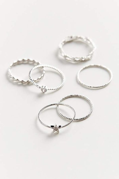 Urban Outfitters Natalia Charm Ring Set