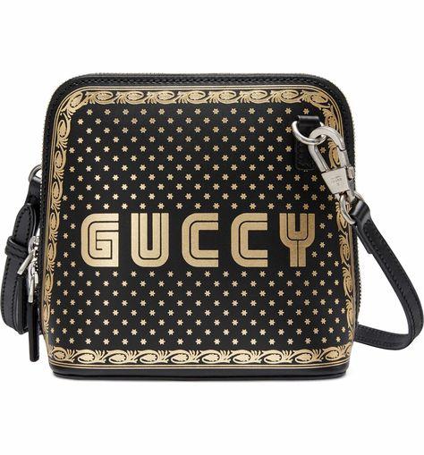 c54f81341e86 Main Image - Gucci Guccy Logo Moon & Stars Leather Crossbody Bag ...