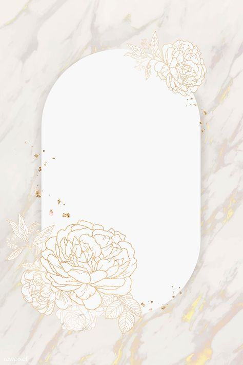 Shimmering floral golden frame vector | premium image by rawpixel.com / marinemynt #vector #vectorart