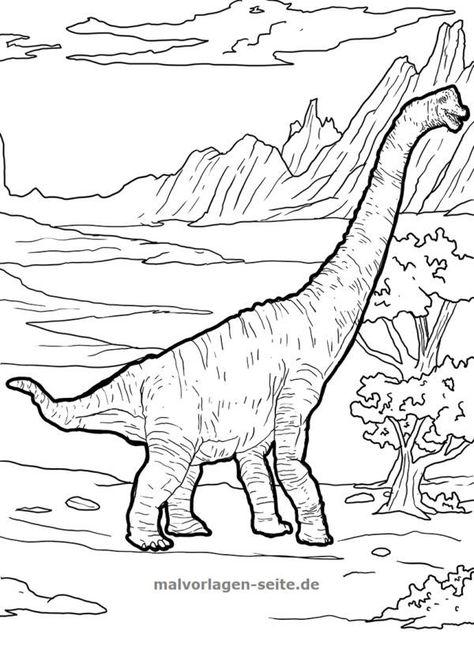 malvorlage  ausmalbild dinosaurier brachiosaurus