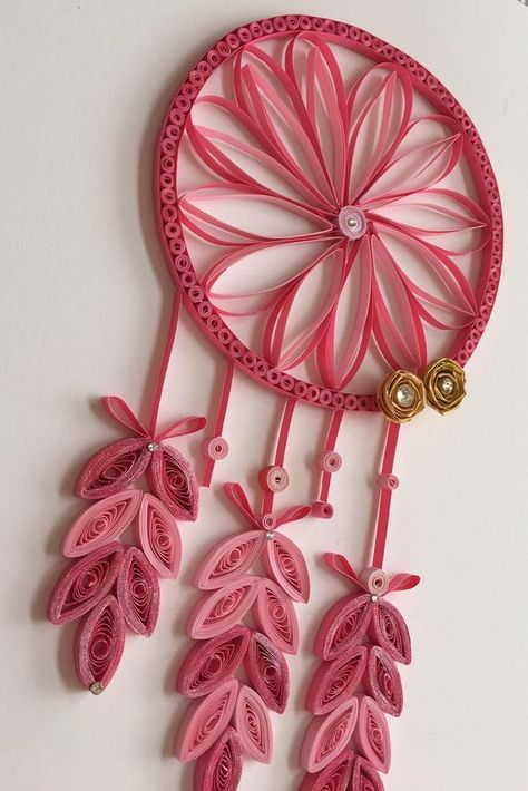 Quilling Dreamcatcher Wall Art and Nursery Decor For Kids Room   Etsy
