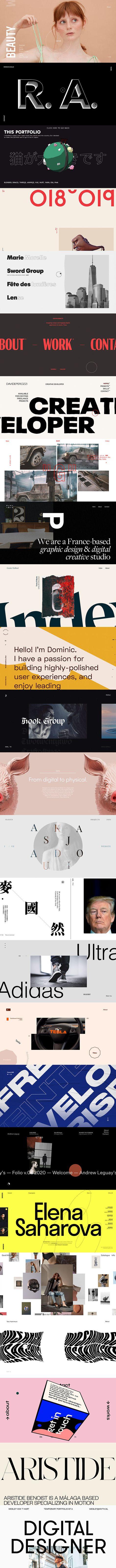 25 Creative Personal Portfolio Website Examples 2020