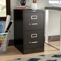 Scalzo 2 Drawer Vertical Filing Cabinet Filing Cabinet Cabinet Drawers