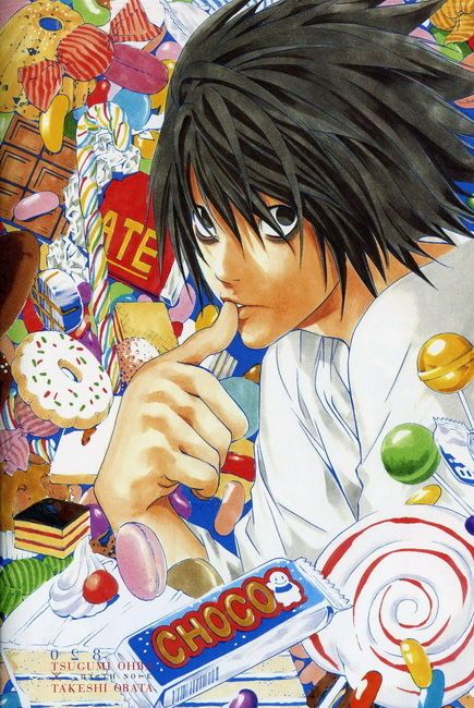 Death Note Wall Scroll Poster Fabric Painting for Anime L Lawliet 064 L Manga Art, Manga Anime, Anime Art, Wall Prints, Poster Prints, Amane Misa, Death Note デスノート, Nate River, Japon Illustration