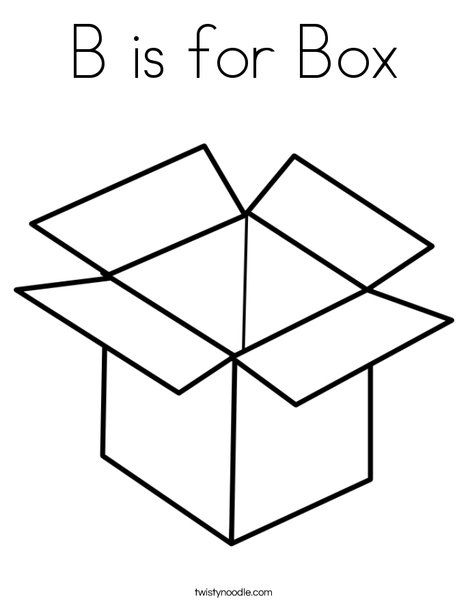 B Is For Box Coloring Page Twisty Noodle Coloring Pages Coloring Pages For Kids Printable Coloring Pages