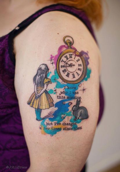 Alice In Wonderland Tattoos And Body Art Ideas Wonderland Tattoo