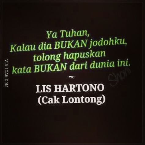 Quote From Cak Lontong Lucu Funny Tuhan