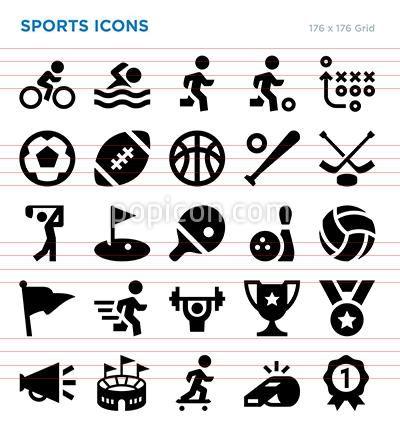 Sports Vector Icon Set Icon Set Vector Icon Set Icon