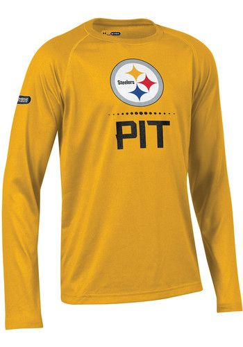 2294b583 Under Armour Pittsburgh Steelers Youth Gold Combine Authentic Long ...