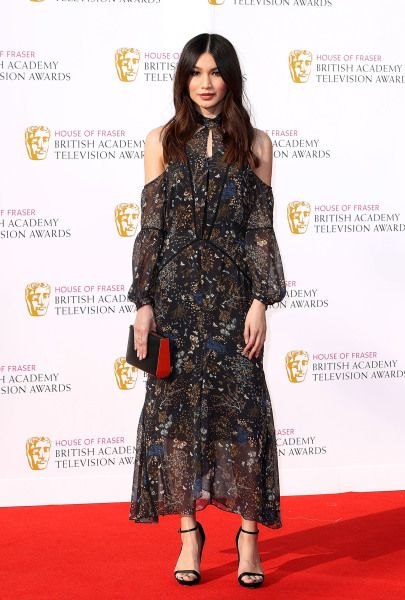 Gemma Chan wore off-the-shoulder deep florals to the British Academy Television Awards 2016                 via @AOL_Lifestyle Read more: http://www.aol.com/article/2016/05/09/who-wore-what-this-weekend-bafta-television-awards/21373901/?a_dgi=aolshare_pinterest#slide=3886400 fullscreen