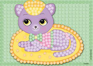 Playmais Katze Mosaic Vorlage Playmais Creations