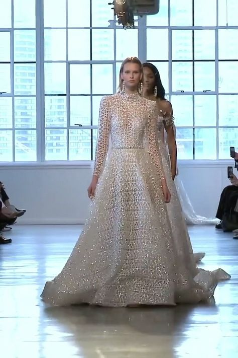 Collection of amazing dresses, A-Lane, Mermaid, Trumpet Wedding Dresses / Wedding Gowns or Wedding Suit from the Fall Winter 2019 Bridal Couture Collection by Berta #springwedding