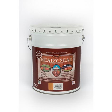 Ready Seal 5 Gal Natural Cedar Exterior Wood Stain And Sealer 512 Exterior Wood Stain Wood Deck Stain Exterior Stain