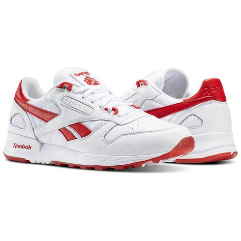 Image result for reebok mens red white blue | Leather