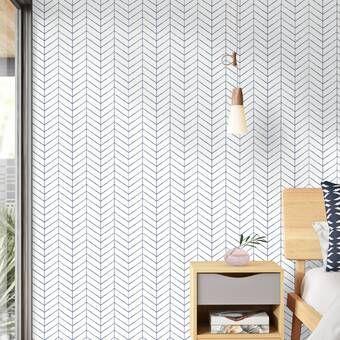 Nevaeh Herringbone Line Matte Fine Fabric Weave Peel And Stick Wallpaper Panel In 2020 Guest Room Wallpaper Wallpaper Panels Peal And Stick Wallpaper