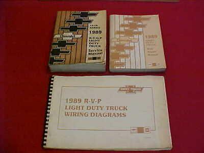 Advertisement Ebay 1989 Chevrolet R V P Suburban Blazer Service Shop Manual Set Wiring 89 R V Rv Chevrolet Pickup