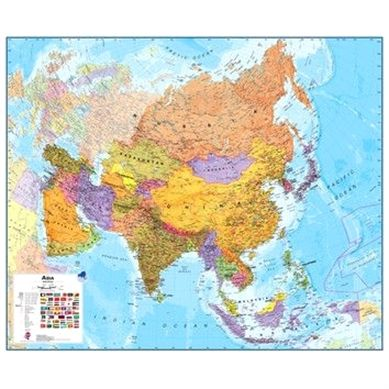 without flags Maps International Large World Political wall map Sudan boundary update Laminated