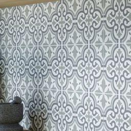 Wickes Melia Sage Patterned Porcelain Tile 200 X 200mm Wickes Co Uk Tile Floor Patterned Wall Tiles Kitchen Floor Tile Patterns