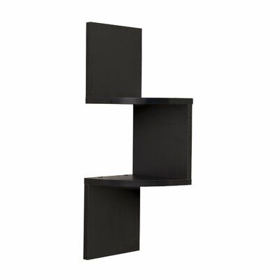 Ebern Designs Painuly Laminated Wall Shelf Finish Black In 2020 Corner Shelves Corner Wall Shelves Laminate Wall