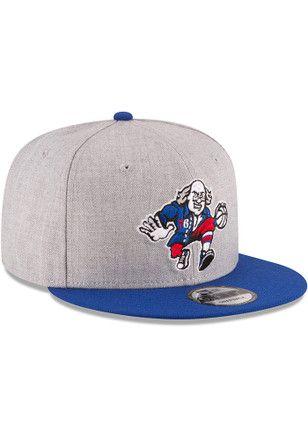 on sale 88b11 5ef23 New Era Philadelphia 76ers Mens Grey Heather 9FIFTY Snapback Hat Dad Hats,  Rally, Grey