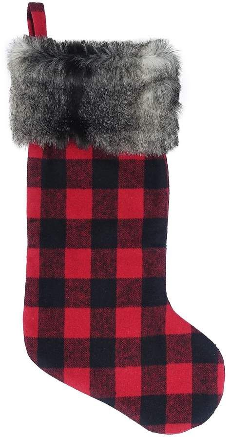 Christmas Stockings Christmas Stockings St RED BUFFALO PLAID Nicholas Stocking Red Buffalo Plaid Stockings