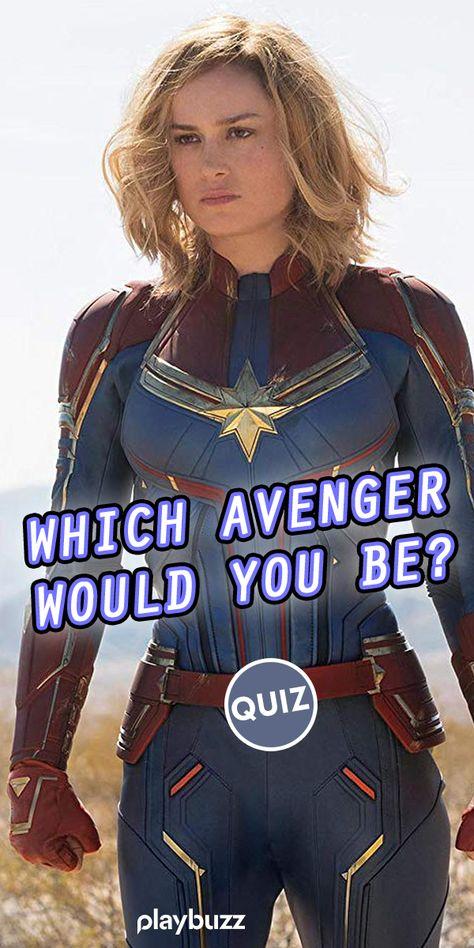 Which Avenger Would You Be? ******** Playbuzz Quiz Quizzes Personality Quiz Buzzfeed Quiz Marvel Comics MCU Captain America DC Comics Thor Iron Man Avengers Endgame Thanos Spider-Man X-Men Larson Infinity Stones