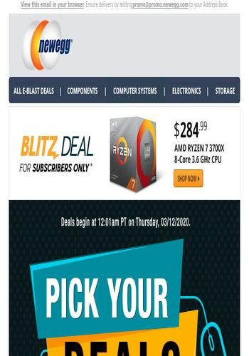 It S Back 284 99 Amd Ryzen 7 3700x 8 Core 3 6 Ghz Cpu See The Latest Deals And Offers From Newegg Com Got Mailed Has All Their New Arrivals Sales Discounts In 2020