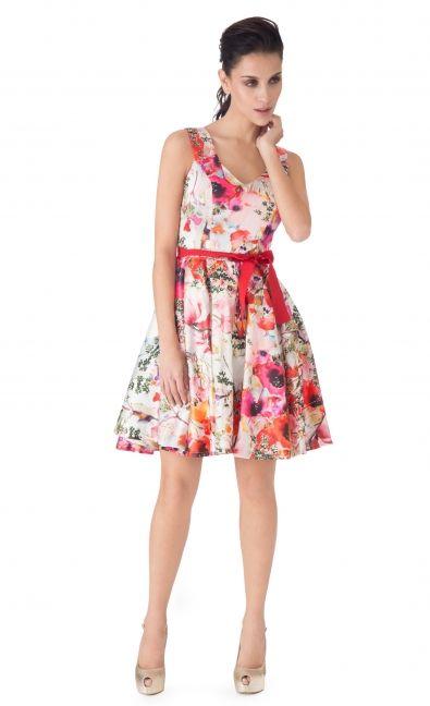 Ivonne 2099 Código 40601902ros Vestido Princesa Flores