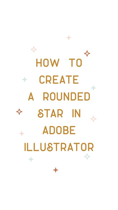 ✨How to Create a Rounded Star in Adobe Illustrator