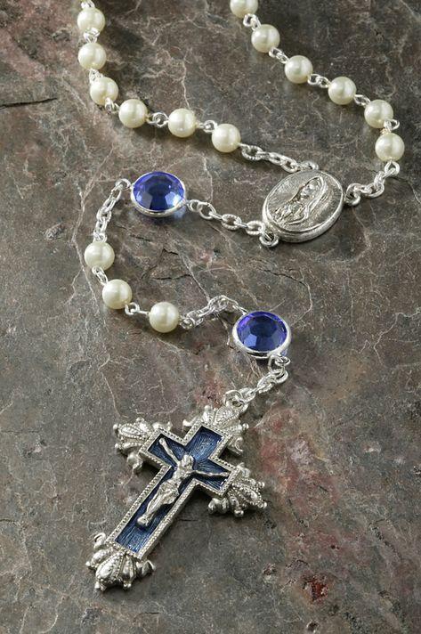 Sapphire Swarovski® Crystal Chanel Rosary