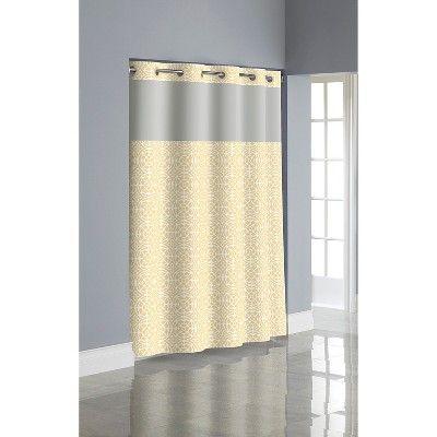 Flex On By Hookless Medallion Shower Curtain Sunlight Hookless