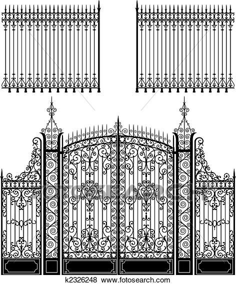 Gate And Fence Clip Art With Images Iron Gate Design Wrought